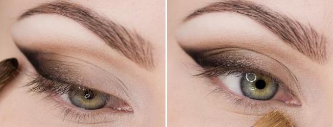Стрелки на глазах тенями